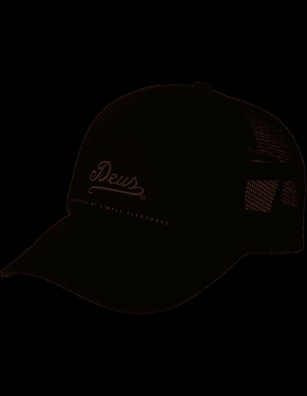 DEUS Peak Trucker kappe - black