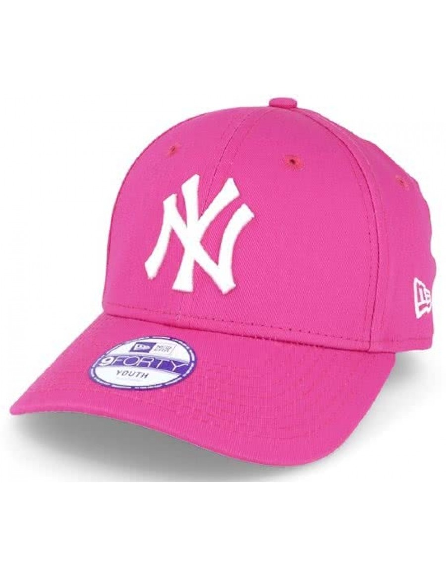 New Era 9Forty Curved cap (940) NY New York Yankees Kids - Pink