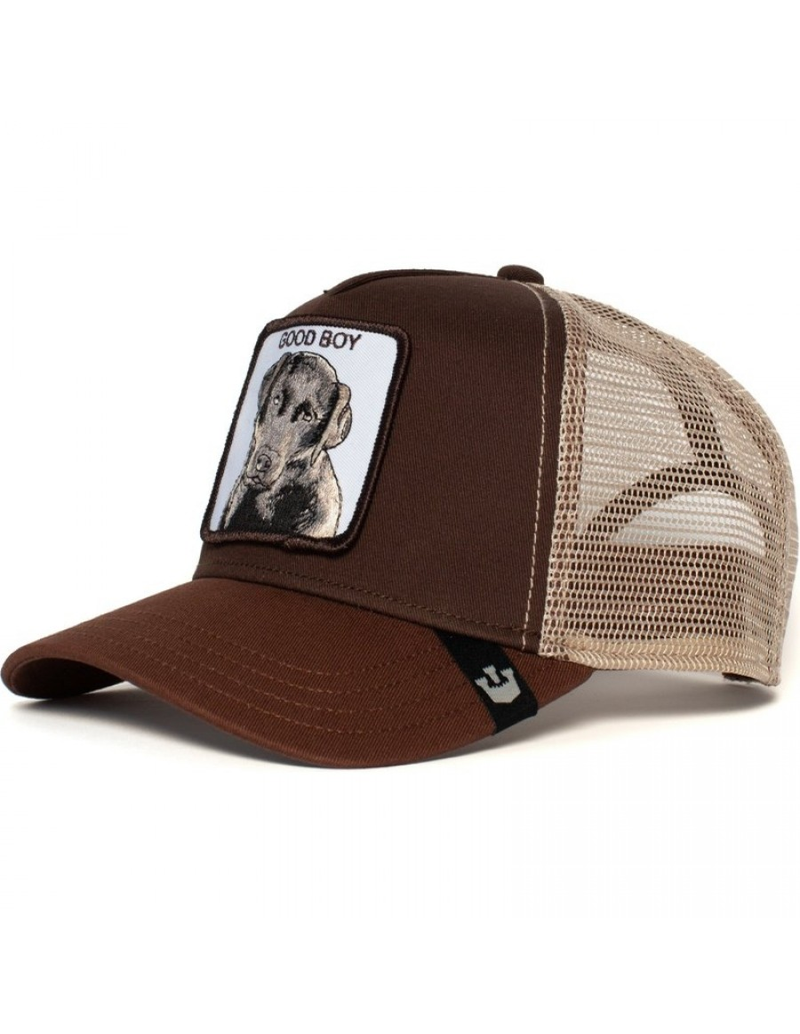 Goorin Bros. KIDS Puppy Dog Eyes Trucker Cap - Brown