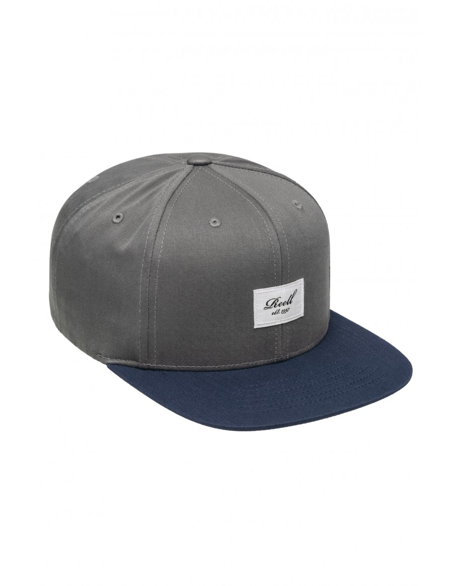 Reell 6 panel Pitchout cap snapback grey navy
