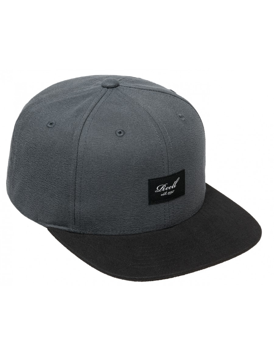 Reell 6 panel Pitchout snapback charcoal- black