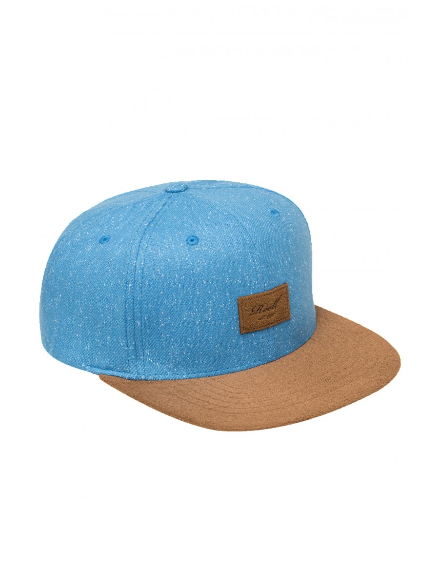 Reell 6 panel Speckled cap snapback light blue