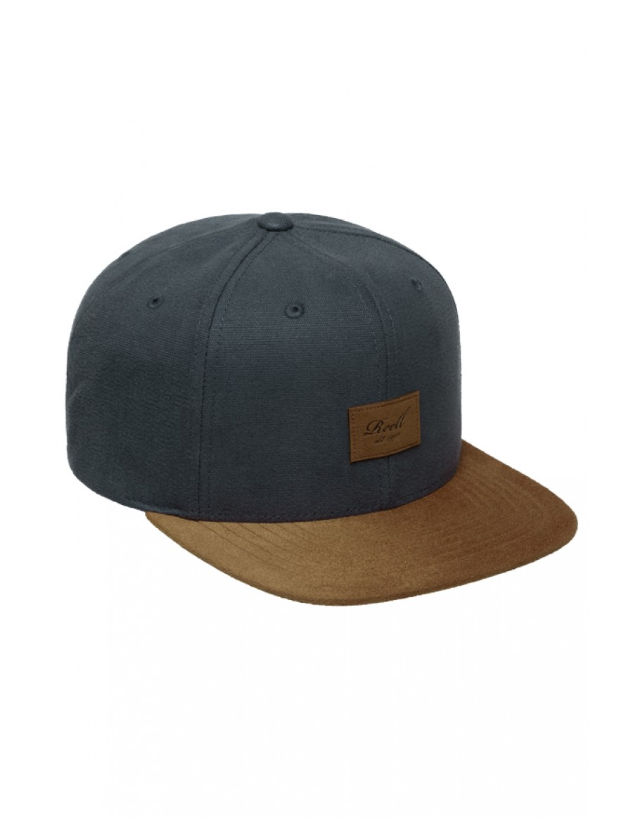 Reell 6 panel Suede cap snapback charcoal