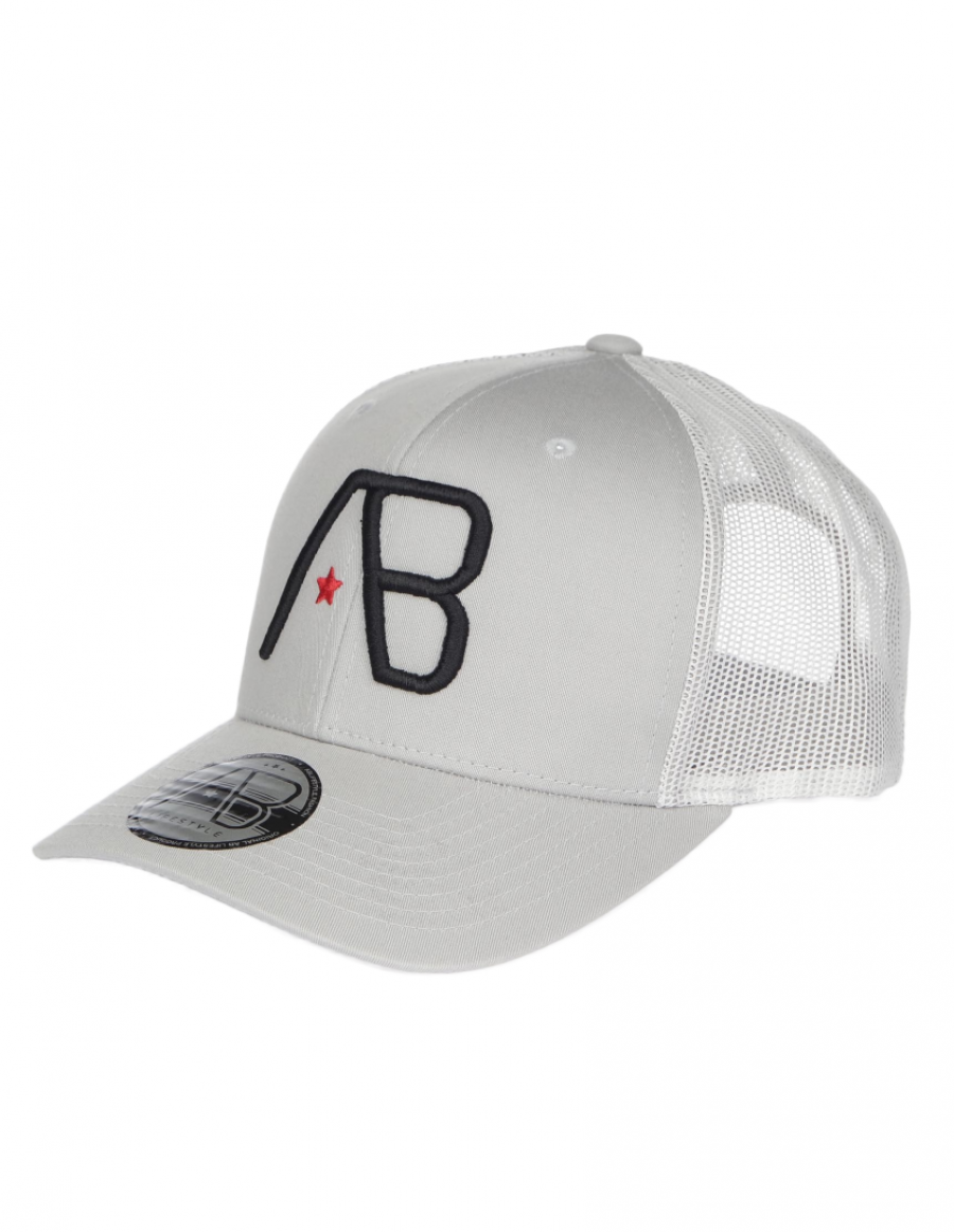 AB cap Retro Trucker - Silver / Black