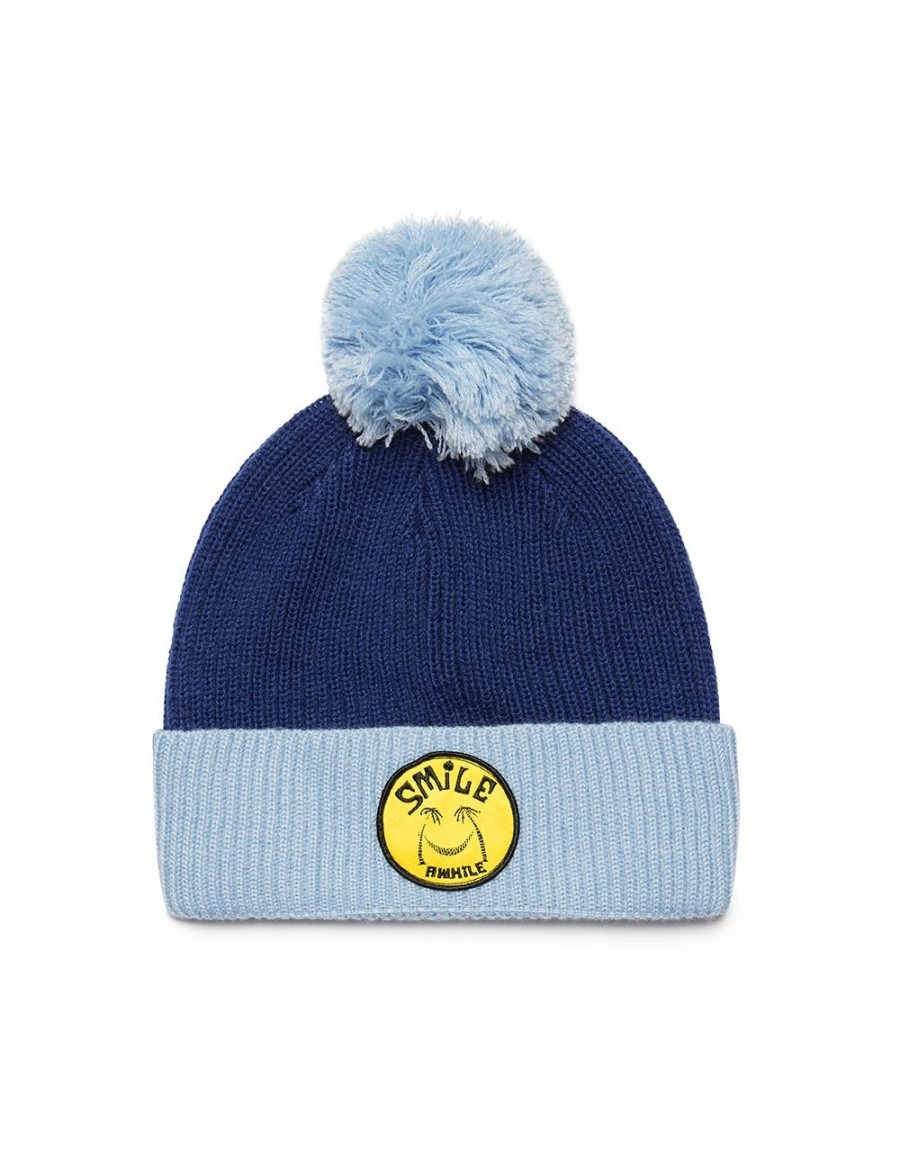 DEUS Paul McNeil Smile Beanie - Estate Blue