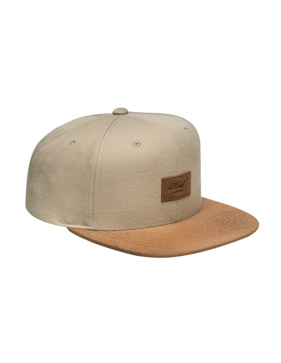 Reell 6 panel Suede cap snapback Sand