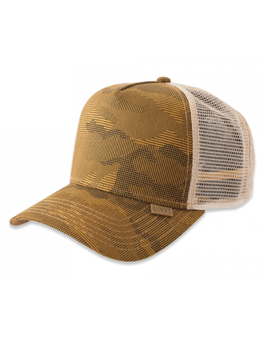Djinn's Striped Camo Trucker Cap army