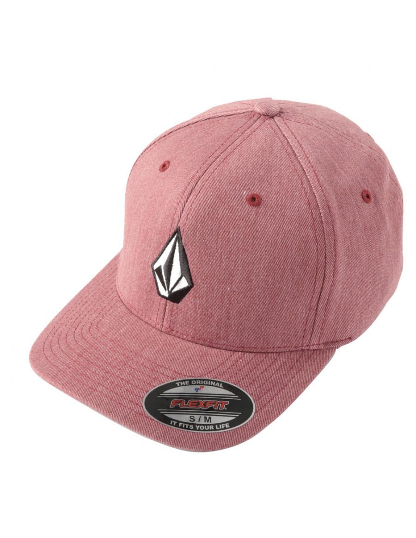 Volcom Full stone flexfit hat XFIT Crimson - Sale