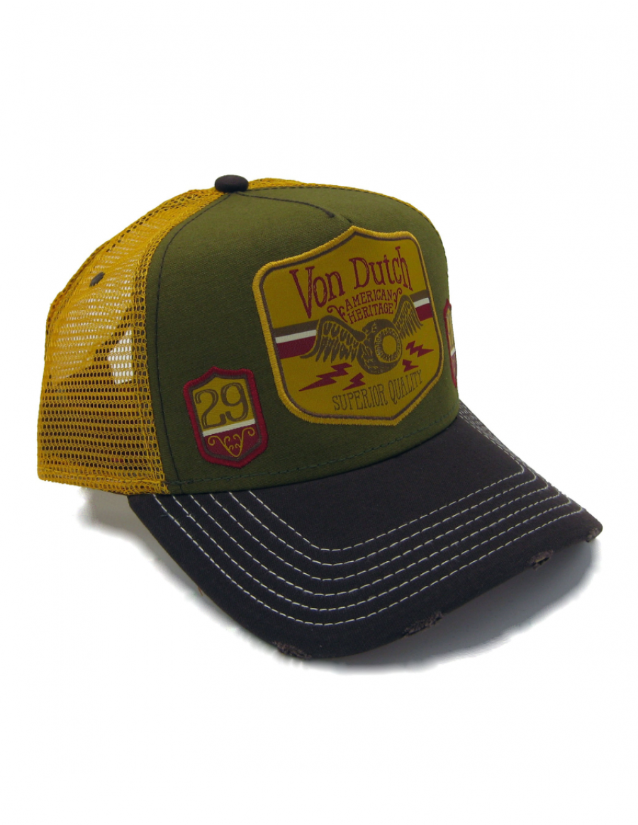 Von Dutch American Heritage trucker cap - green brown