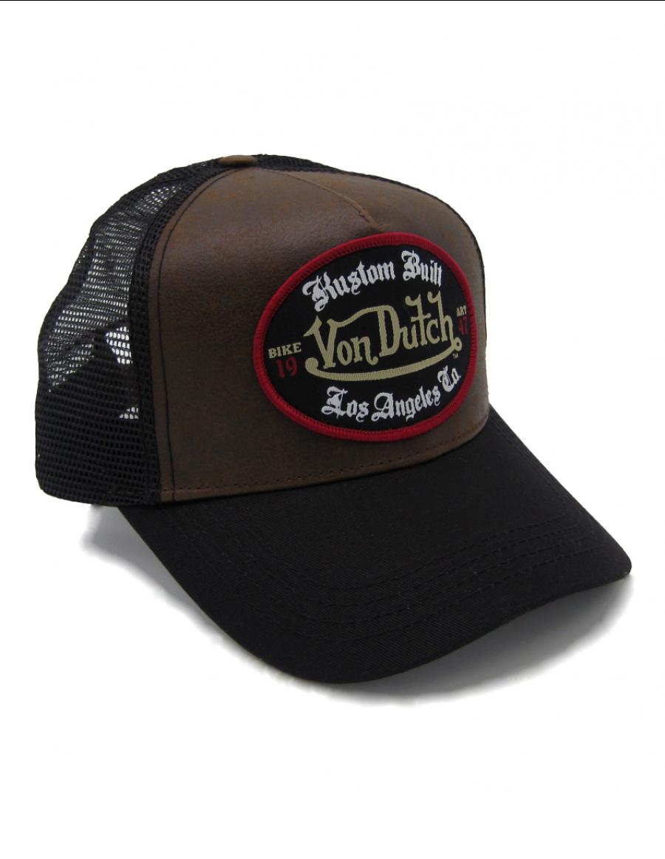 Von Dutch Custom Built trucker cap - brown black