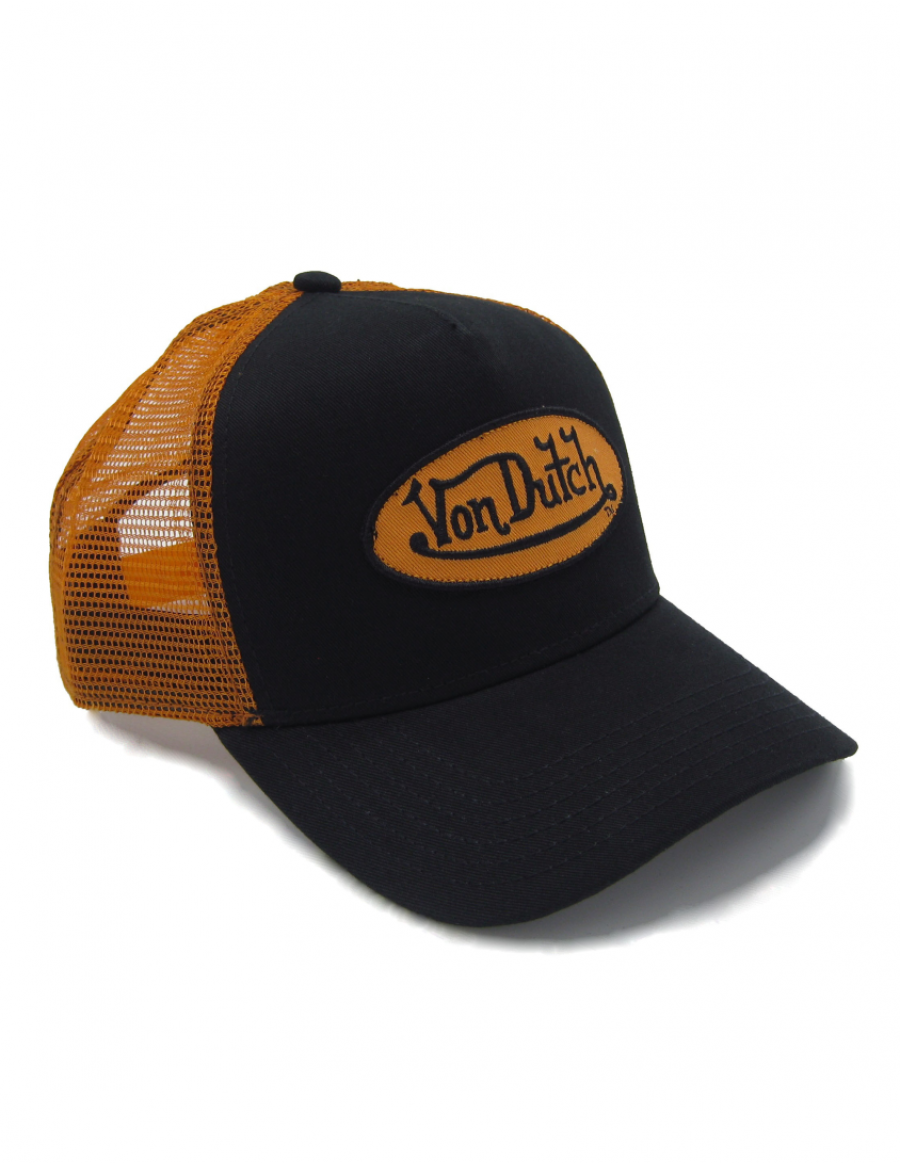 Von Dutch Logo trucker cap - black orange