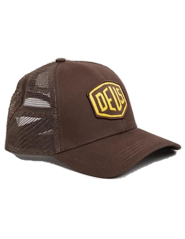 DEUS Woven Shield Trucker kappe - Braun