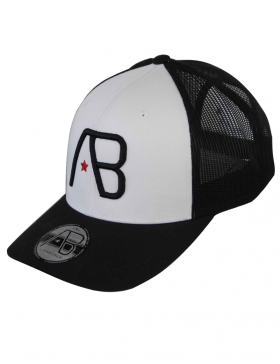 AB cap Retro Trucker - black white