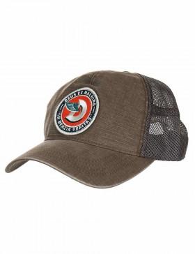 DEUS Asutralian Embroided Marley Trucker kappe - Cocoa