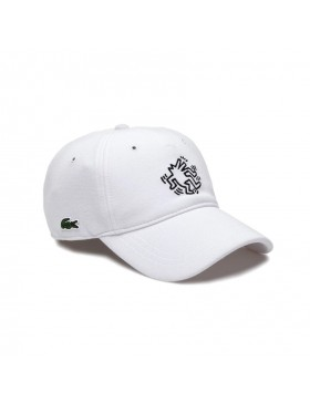 Lacoste Kappe - x Keith Haring - Weiß