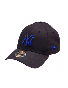 New Era 9Forty Curved cap (940) NY Yankees - Blue on black