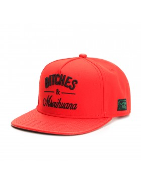 Cayler & Sons Bitches & Marihuana snapback cap -red