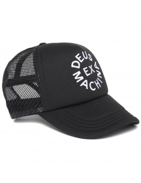 DEUS Trucker kappe Circle logo - black