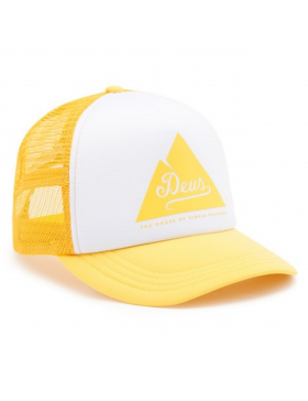 DEUS Peak Trucker cap - Lemon