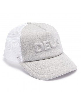 DEUS Kappe Trucker Capital Letters- grey marle
