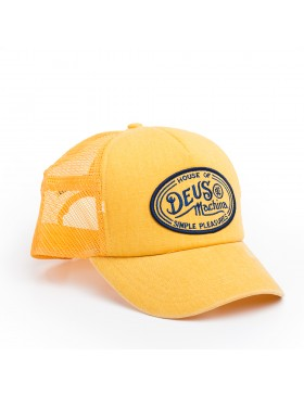 DEUS Kappe Trucker Charlie - washed yellow
