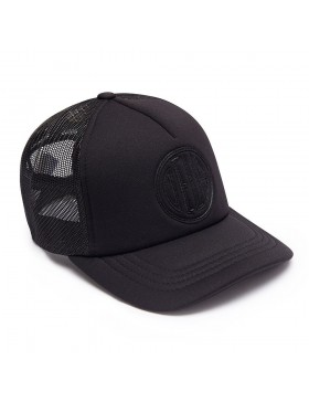 DEUS Kappe Trucker Pill - black on black