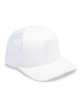 DEUS Kappe Trucker Pill - white on white