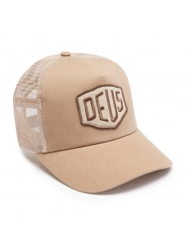 DEUS Trucker Kappe Foxtrot Shield - tan