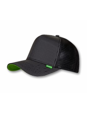 Djinn's Needlecheck II Trucker Cap black