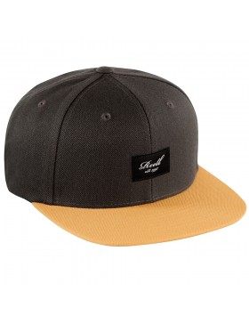 Reell 6 panel Pitchout snapback Dark Grey-Sand