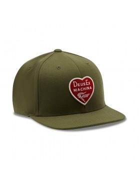 DEUS Heart Baseball Kappe - Olive