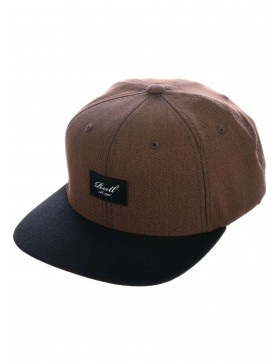 Reell 6 panel Pitchout snapback Dark Brown Herringbone