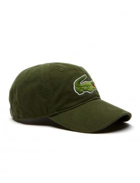 Lacoste Kappe - Big Croc Gabardine - boscage green