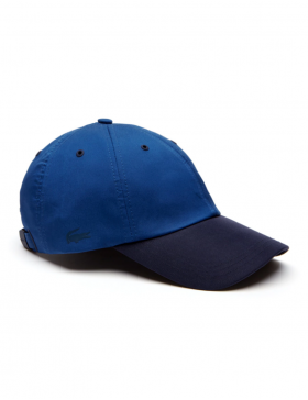 Lacoste Kappe - Contrast visor stretch twill - navy blue
