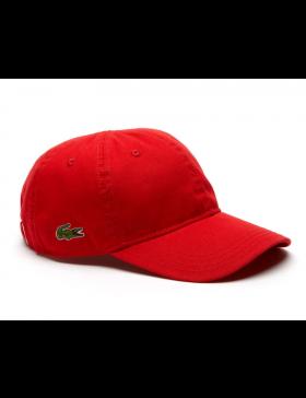 Lacoste Kappe - Gabardine cap - rouge red
