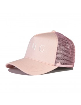 KING Apparel Leyton Curved Trucker cap - Blush