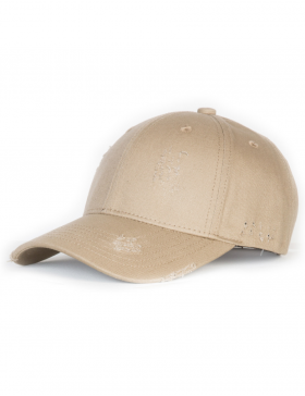 NVLTY London Distressed Curved cap - beige