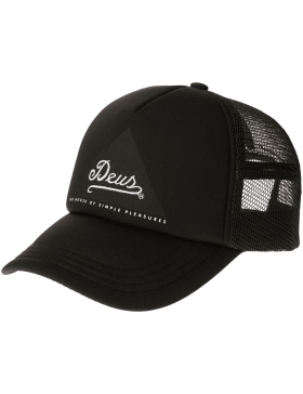 DEUS Peak Trucker kappe - black