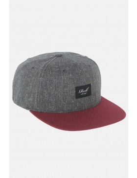 Reell 6 panel Pitchout snapback Charcoal Speckle / Maroon