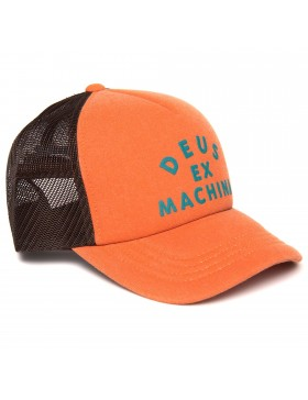 DEUS Roller Trucker Kappe - Poppy Orange