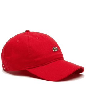 Lacoste Kappe - Small Croc Gabardine - Red