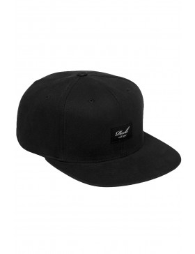 Reell 6 panel Pitchout cap snapback all black
