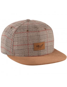 Reell 6 panel Suede cap Snapback Sand Check