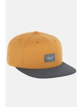 Reell 6 panel Suede cap snapback Yellow Brown