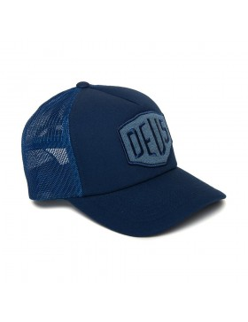 DEUS Terry Shield Trucker cap - Ocean Blue