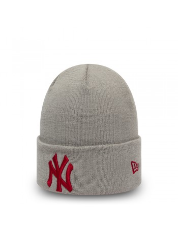 New Era League Essential Cuff Knit New York Yankees - Gray/Red
