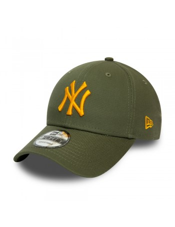 New Era 9Forty League Essential (940) NY Yankees - Olive/Yellow