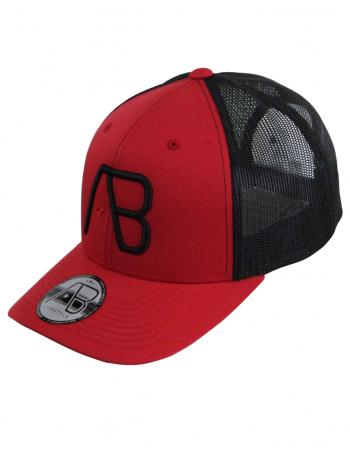AB cap Retro Trucker - black red