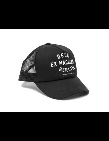 DEUS Berlin Address Trucker cap - Black