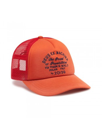 DEUS Bleached Milan Trucker kappe - Red Clay